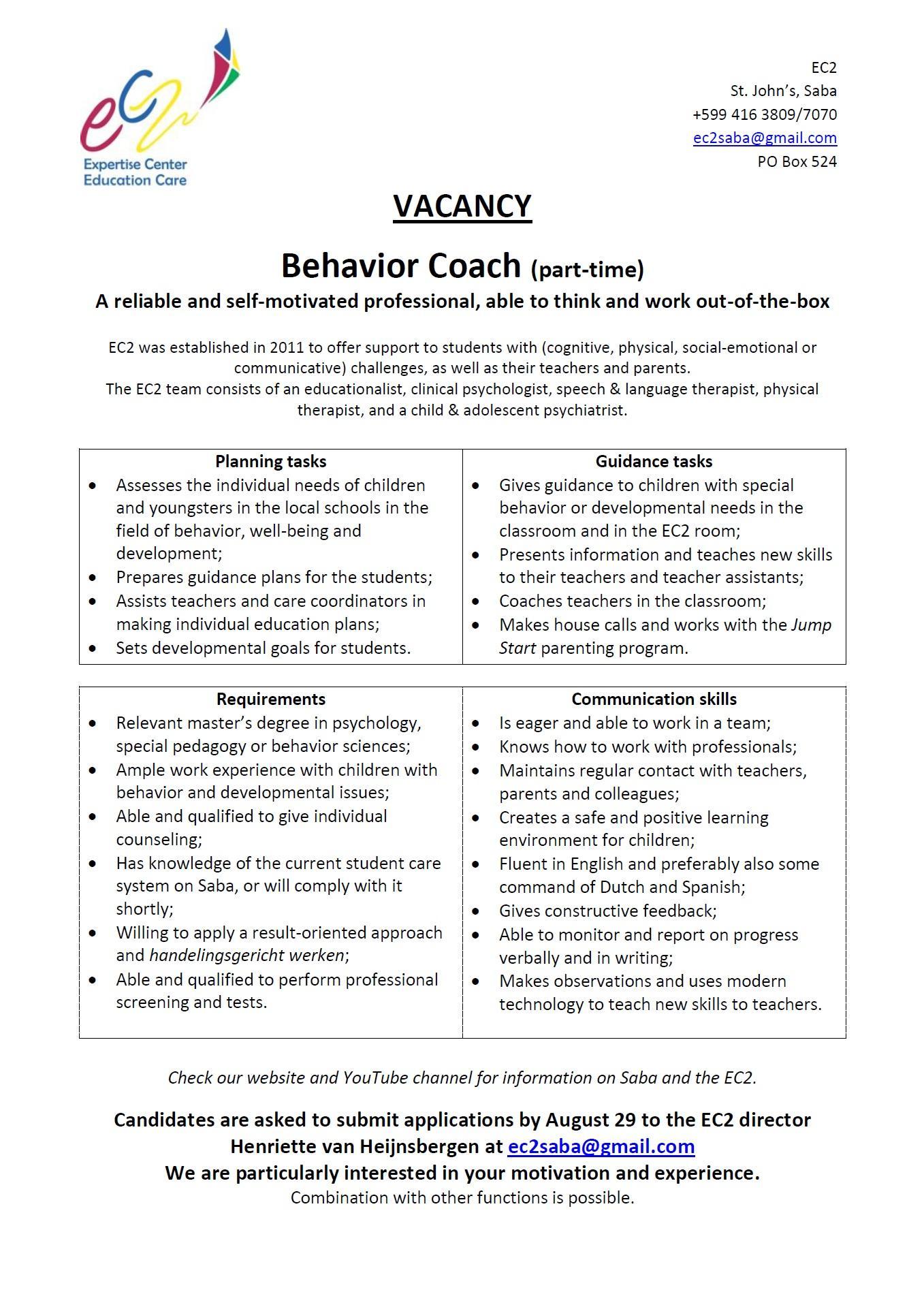 vacatures coaching en counseling