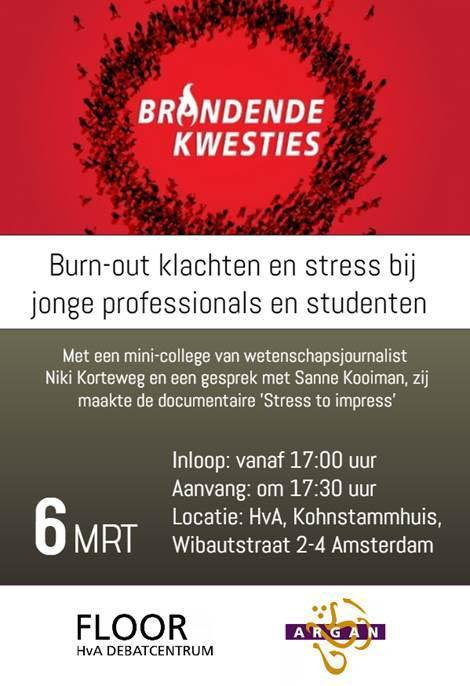 HvA Arngan Burn out stress studenten professionals Caribisch Ocan