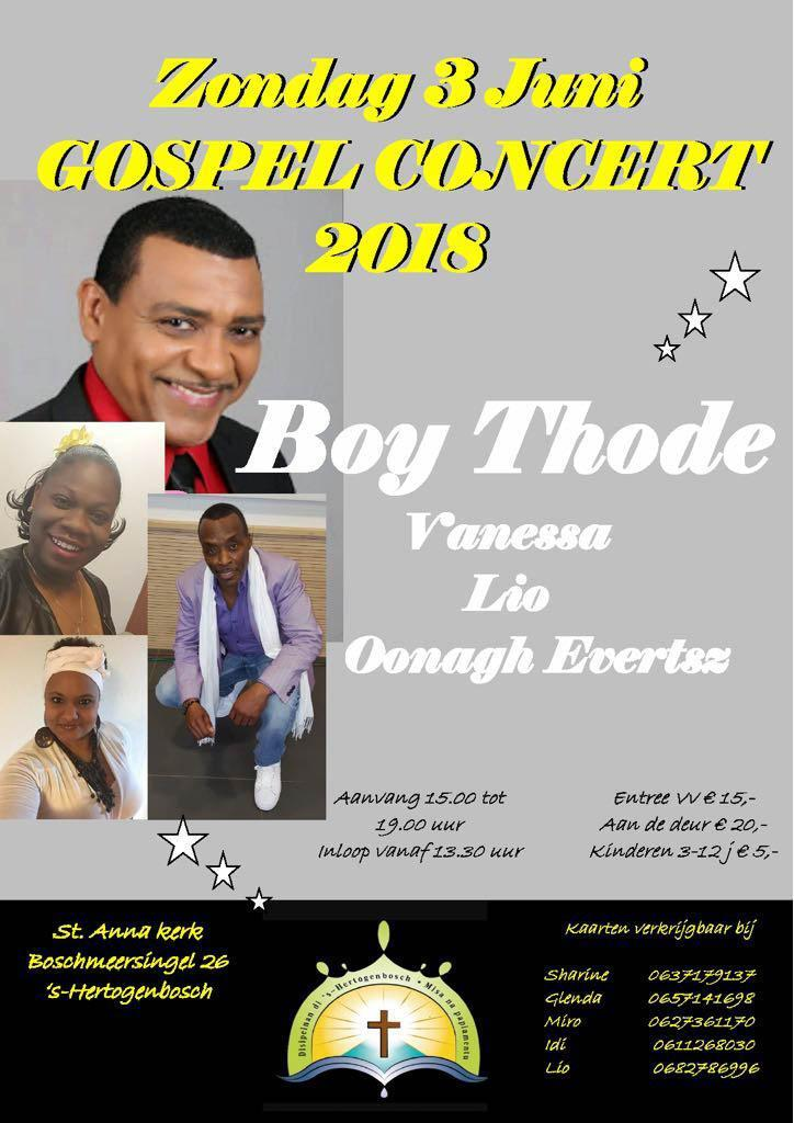 gospelconcert Boy Thode Ocan carbisch gospel